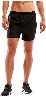 2XU XVENT 5 Shorts w/ Brief (Black/Silver Reflective) Men's Shorts