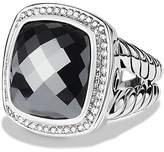 David Yurman Albion Ring with Hematine & Diamonds