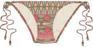 Eberjey Geo Weave Eva Low-rise Printed Bikini Briefs