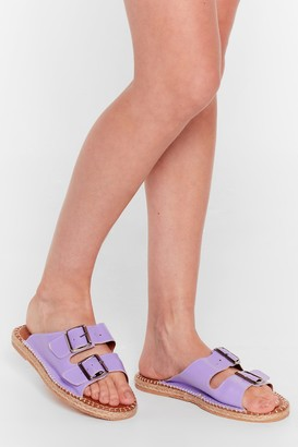 Nasty Gal Womens You Know the Espadrille Faux Leather Sandals - Purple - 3