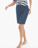 Chico's Grecian Dot Roll-Hem Shorts