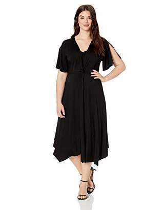 Karen Kane Women's Plus Size Asymmetric Twist-Front Dress