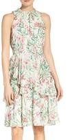 Eliza J Women's Chiffon Fit & Flare Dress