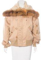 Jean Paul Gaultier Faux Fur Bomber Jacket