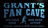 AdvPro Name tc1154-b Grant's Baseball Fan Cave Man Room Bar Beer Neon Light Sign