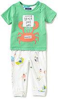 Joules Baby Boys Newborn-12 Months Short-Sleeve Crab Tee & Crab Pants Set