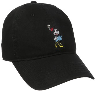 Disney Women's Minnie Mouse Washed Baseball Cap Adjustable with Slide Hat