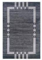 Linon Milan Rug In Black And Ivory 1.10 x 2.10 - 5 x 7 Foot 7