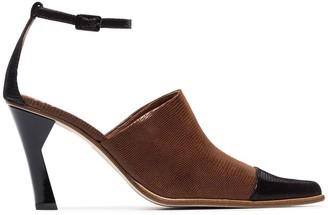 REJINA PYO Estelle 85 sculpted heel pumps