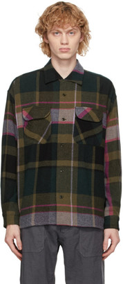 ts(s) tss Green and Pink Round Flap Pocket Baggy Shirt