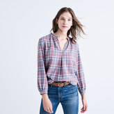 Madewell Rivet & Thread Gathered-Collar Shirt in Avery Plaid