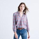 Madewell Rivet & Thread Gathered-Collar Shirt in Avery Plaid