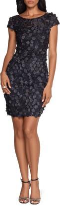 Xscape Evenings 3D Floral Lace Sheath Dress