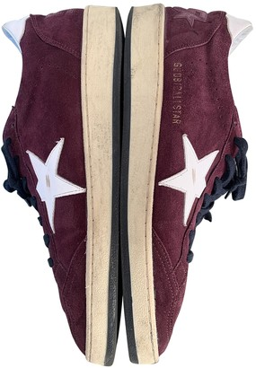Golden Goose Ball Star Burgundy Suede Trainers