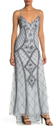 Jump Embellished Beaded High/Low Long Gown