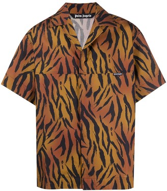Palm Angels Tiger-Print Shirt
