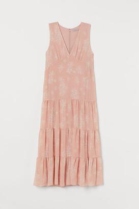 H&M Patterned Long Dress - Orange