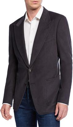 Tom Ford Men's Shelton Corduroy Two-Button Jacket, Gray