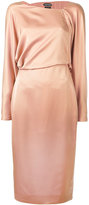 Tom Ford asymmetric neckline dress - women - Silk - 40