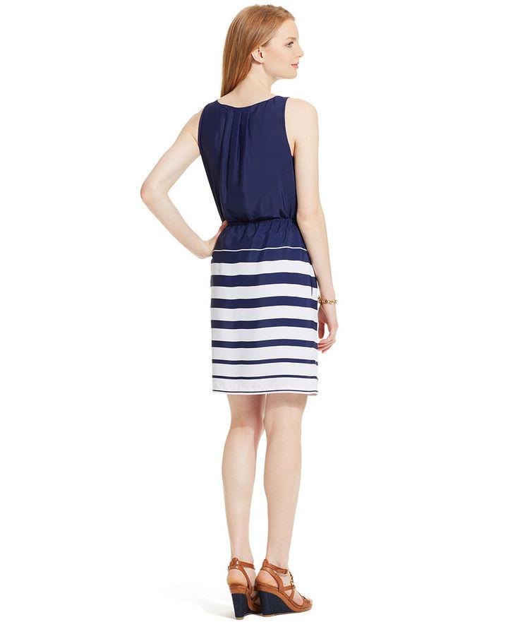 Tommy Hilfiger Sleeveless Striped Dress