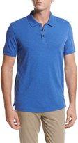 Vince Slub Cotton Polo Shirt, Bright Blue