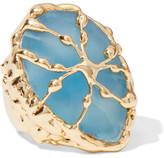 Rosantica Baronessa Gold-tone Chalcedony Ring - S
