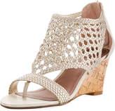 Donald J Pliner Jolie Woven Wedge Sandal, Ivory