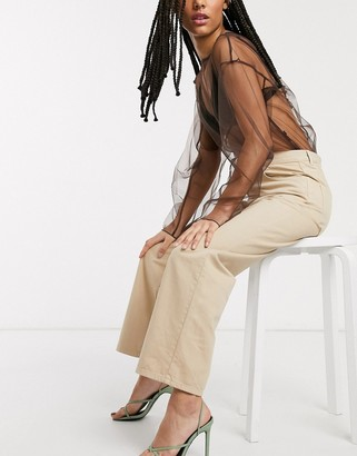 And other stories & organic cotton straight leg pants in beige