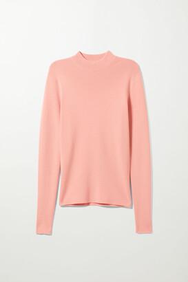 Weekday Kimber Mockneck Sweater - Beige