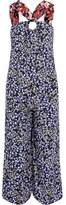 Mother of Pearl Open-Back Floral-Print Silk Crepe De Chine Jumpsuit