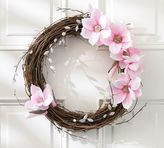 Pottery Barn Faux Magnolia & Pussywillow Wreath