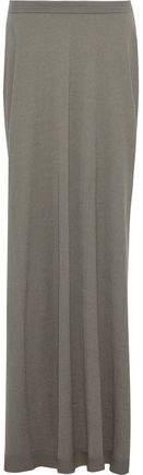Asymmetric Cashmere-blend Maxi Skirt