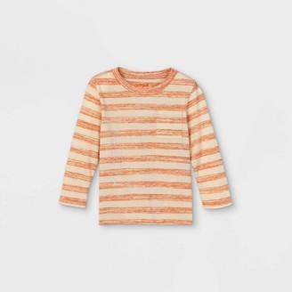 Cat & Jack Toddler Boys' Striped Knit Long Sleeve T-Shirt - Cat & JackTM
