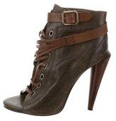 Roberto Cavalli Peep-Toe Ankle Boots