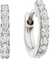 Astley Clarke Mini Halo 14ct white-gold diamond hoop earrings