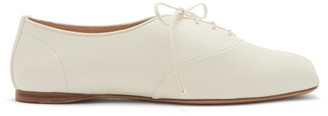 Gabriela Hearst Maya Square-toe Nappa-leather Oxford Shoes - Cream
