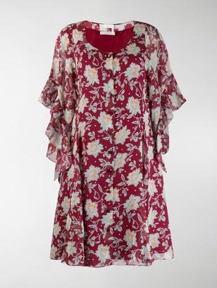 Chloé Floral Frill Sleeve Dress