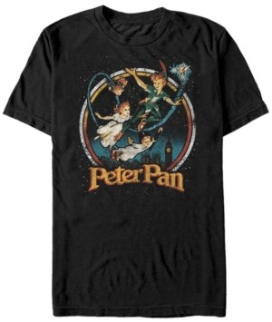 Disney Men's Peter Pan Group London Flyin, Short Sleeve T-Shirt