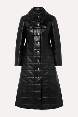 A.W.A.K.E. Mode Miss Roboto Quilted Faux Leather Coat - Black