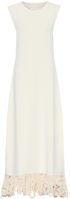 Jil Sander Macrame-trimmed maxi dress