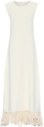 Jil Sander Macrame-trimmed maxi dress