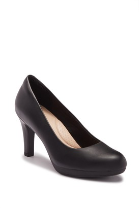 Clarks Adriel Viola Leather Pump - Wide Width Available