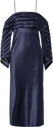 Dion Lee Cold-shoulder Cutout Silk-satin Midi Dress