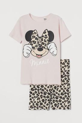 H&M Cotton Jersey Pajamas - Pink