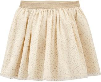 Osh Kosh Girls 4-14 Sparkle Polka Dot Tulle Skirt