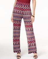 NY Collection Printed Petite Soft Pants