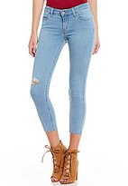Levi's 535 Frayed Hem Cropped Stretch Super Skinny Jeans