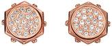 Swarovski Rose Gold-Tone Bolt Earrings