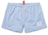 Thom Browne Cotton-poplin Boxer Shorts - Blue