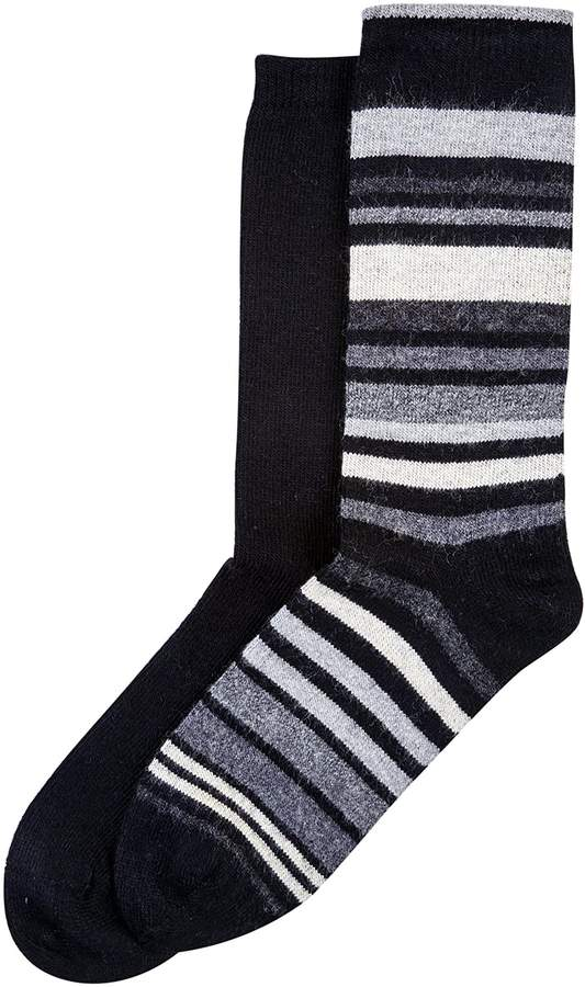 Hue Women's Soft Crew Boot Socks 2 Pair Pack Assorted